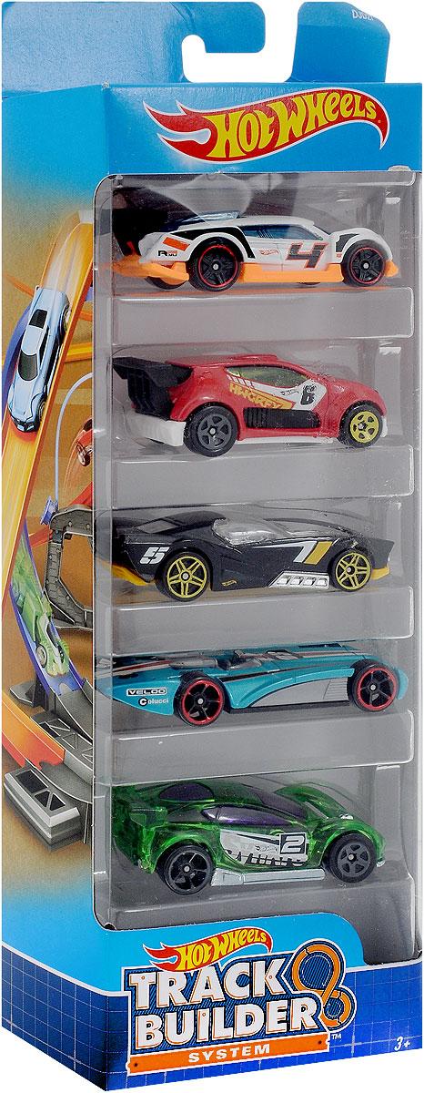 Hot Wheels Track Builder Набор машинок 5 шт1806_DJD27