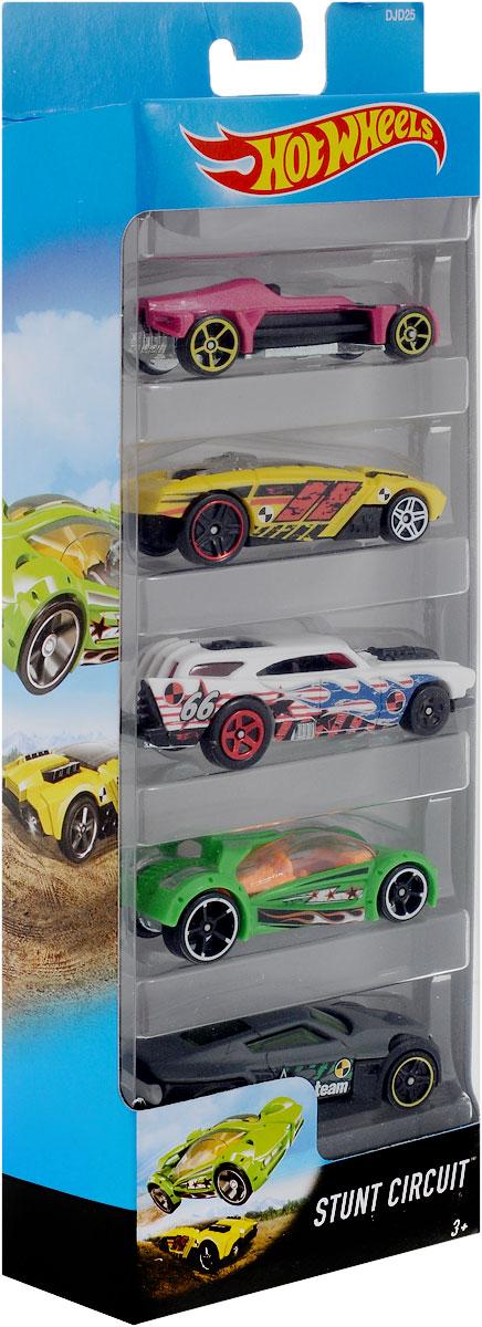 Hot Wheels Набор машинок Stunt Circuit 5 шт1806_DJD25