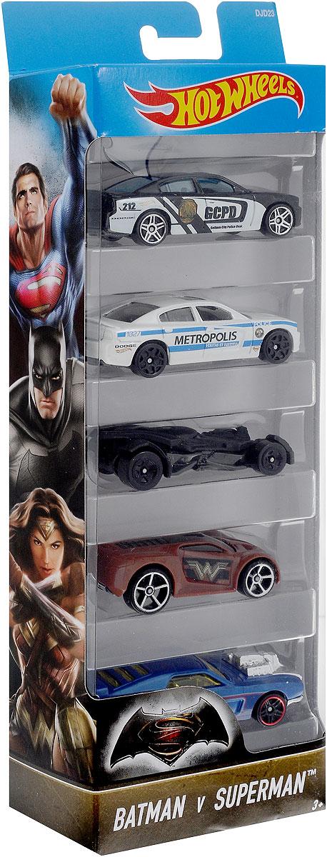 Hot Wheels Набор машинок Batman vs Superman 5 шт1806_DJD23