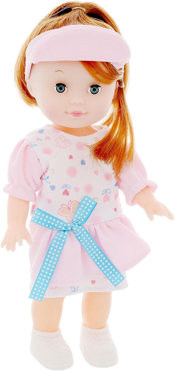 Shantou City Кукла S577-H43140S577-H43140Кукла одета в симпатичный костюмчик с голубым бантиком, в котором можно пойти на прогулку. К наряду прилагается розовый аксессуар для волос. Длинные волосы шоколадного цвета собраны в хвост, который в любой момент можно распустить. С этой игрушкой девочки смогут придумать множество разных игр.