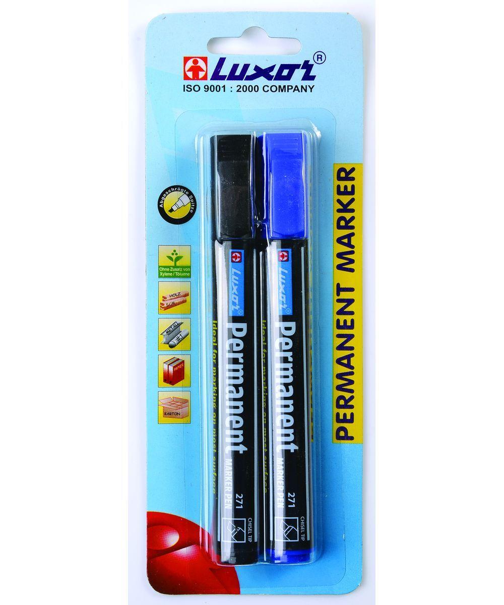 Luxor Набор маркеров цвет черный синий 2 шт