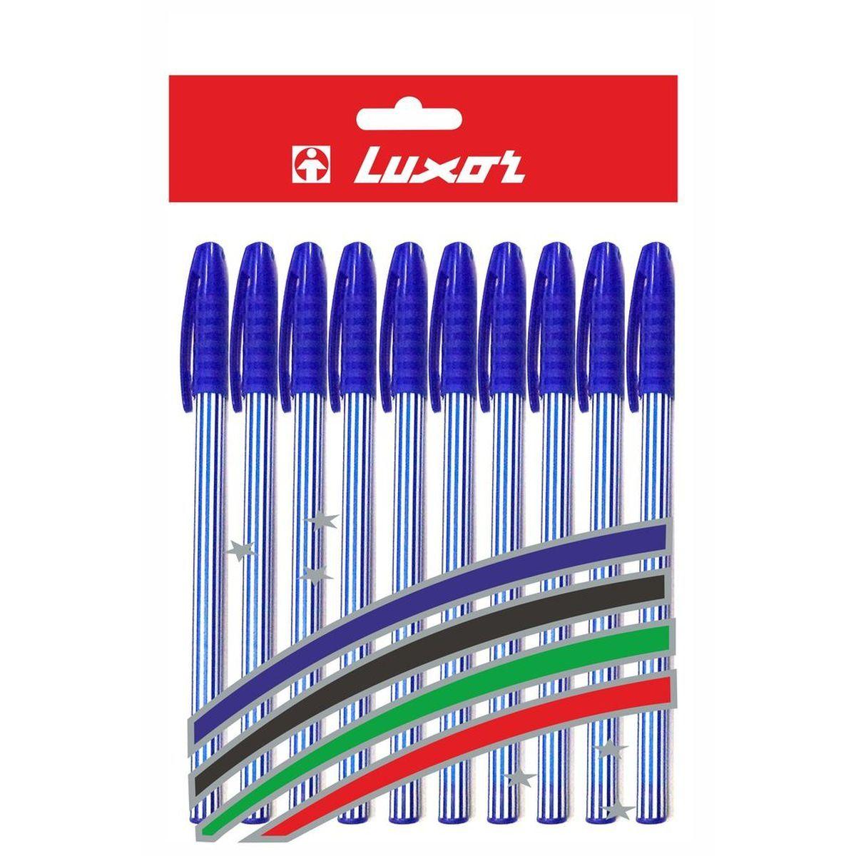 Luxor Набор шариковых ручек Stripes цвет синий 10 шт