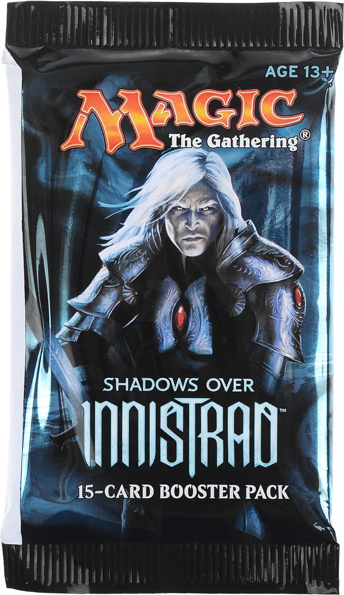 Magic: The Gathering Настольная игра Тени над ИннистрадомB62160001Каждый бустер включает в себя 15 случайных карт, из которых одна редкая или мифическая, 3 необычные и 11 обычных.