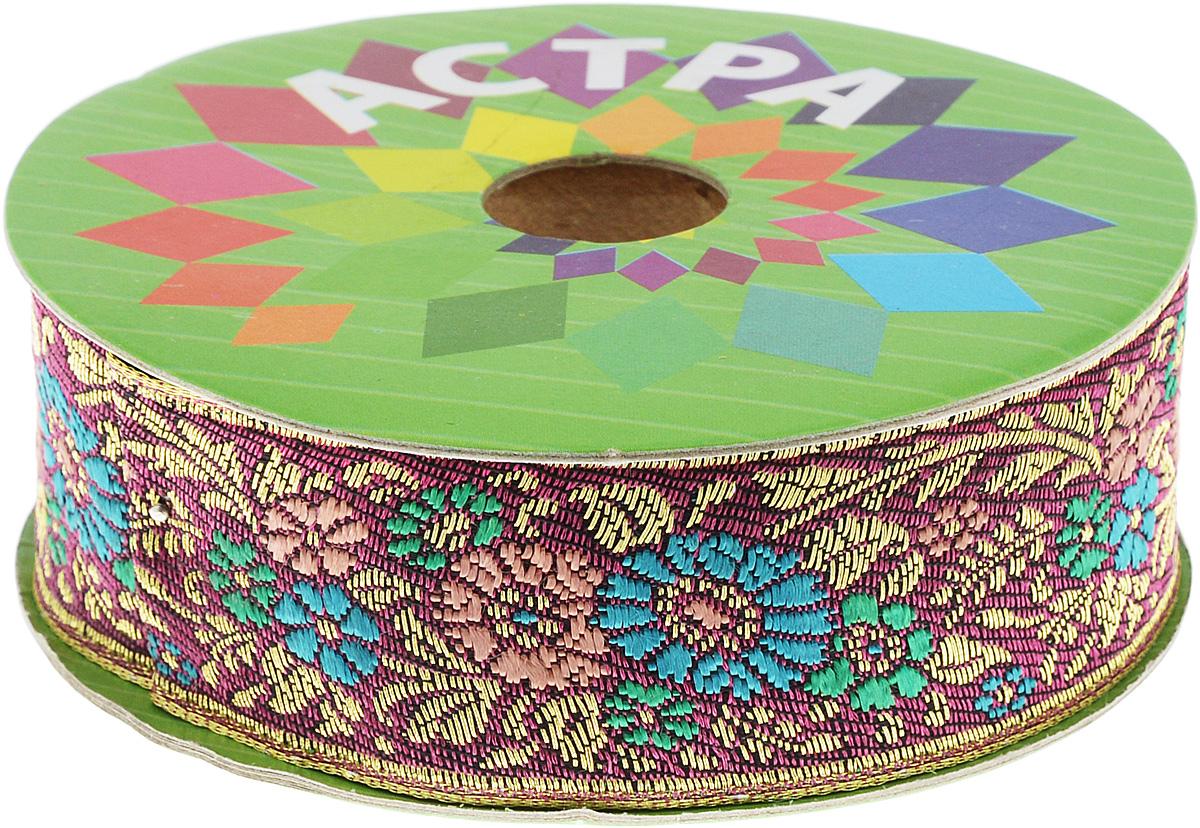 Тесьма декоративная Астра, цвет: бордовый, сине-зеленый (С16), ширина 3 см, длина 9 м. 77034397703439_С16Декоративная тесьма Астра выполнена из текстиля и оформлена оригинальным орнаментом. Такая тесьма идеально подойдет для оформления различных творческих работ таких, как скрапбукинг, аппликация, декор коробок и открыток и многое другое. Тесьма наивысшего качества и практична в использовании. Она станет незаменимым элементом в создании рукотворного шедевра. Ширина: 3 см. Длина: 9 м.