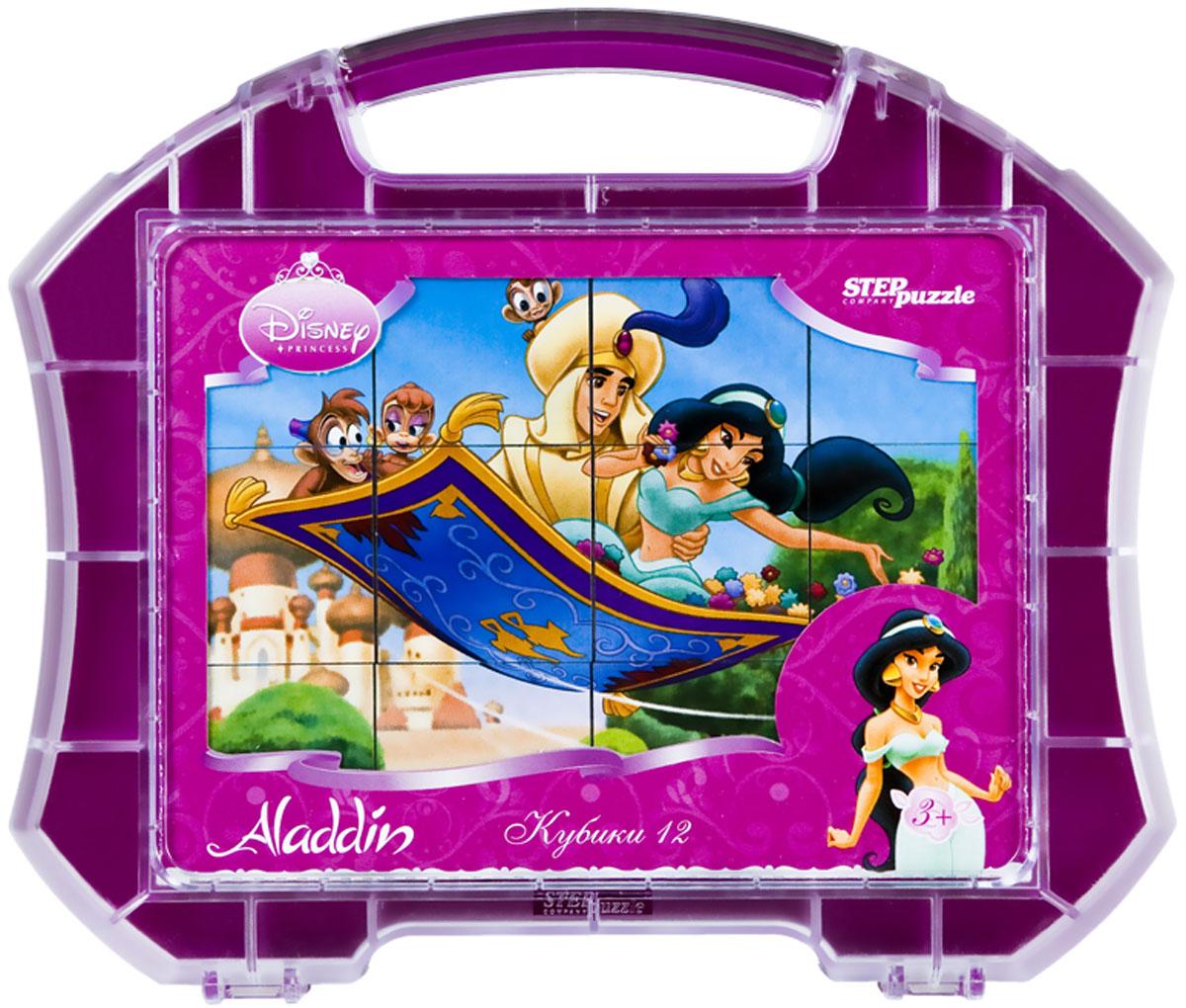 Step Puzzle Кубики Жасмин в чемоданчике87109С помощью кубиков Step Puzzle Жасмин ребенок сможет собрать целых шесть красочных картинок с любимой принцессой Диснея. Наборы из 12 кубиков - для тех, кто освоил навык сборки картинки из 9 кубиков. Заложенный дидактический принцип От простого к сложному позволит ребёнку поверить свои силы. А герои популярных мультфильмов сделают кубики любимой игрушкой. Игра с кубиками развивает зрительное восприятие, наблюдательность, мелкую моторику рук и произвольные движения. Ребенок научится складывать целостный образ из частей, определять недостающие детали изображения. Это прекрасный комплект для развлечения и времяпрепровождения с пользой для малышки.