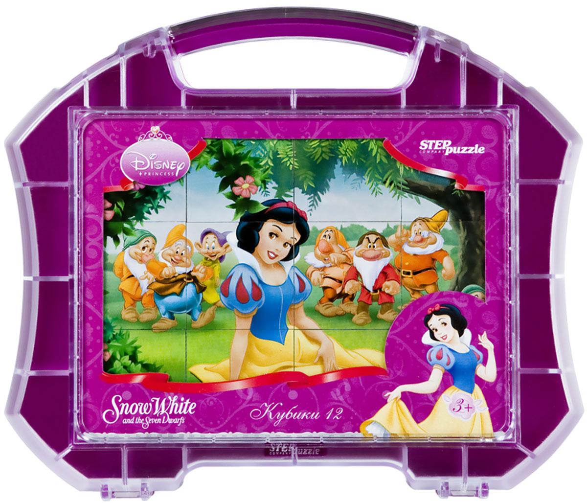 Step Puzzle Кубики Белоснежка в чемоданчике87105С помощью кубиков Step Puzzle Белоснежка ребенок сможет собрать целых шесть красочных картинок с любимой принцессой Диснея. Наборы из 12 кубиков - для тех, кто освоил навык сборки картинки из 9 кубиков. Заложенный дидактический принцип От простого к сложному позволит ребёнку поверить свои силы. А герои популярных мультфильмов сделают кубики любимой игрушкой. Игра с кубиками развивает зрительное восприятие, наблюдательность, мелкую моторику рук и произвольные движения. Ребенок научится складывать целостный образ из частей, определять недостающие детали изображения. Это прекрасный комплект для развлечения и времяпрепровождения с пользой для малышки.