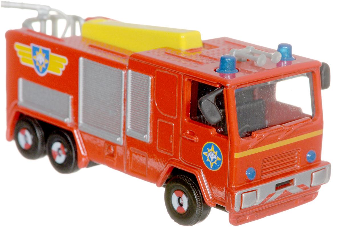 Dickie Toys Пожарная машина Jupiter3099625_JupiterГлавный элемент технического оснащения пожарной команды - конечно, красная пожарная машина! Пожарная машина Dickie Toys Jupiter выполнена в реалистичном стиле и оснащена декоративными элементами - парой синих маячков, брандспойтом, окошками, закрытыми жалюзи. Кабина застеклена. Имеется 3 пары колес. Машинка изготовлена из прочных, качественных и безопасных материалов, аккуратно раскрашена яркими красками. Пополните коллекцию моделей пожарной техники другими игрушками из серии Пожарный Сэм и организуйте собственную пожарную станцию!