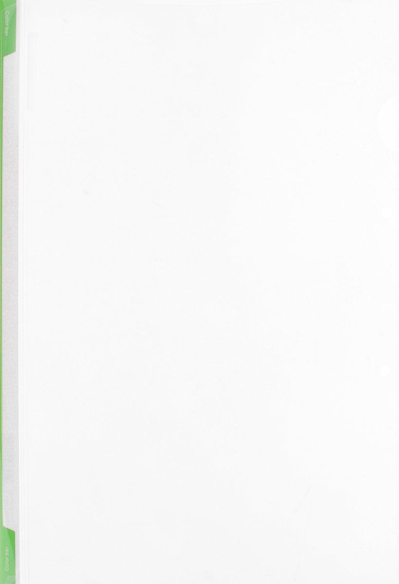 Kokuyo Папка-уголок цвет прозрачный светло-зеленый990306Папка-уголок Kokuyo подойдет для хранения документов и тетрадей как для офисного работника, так и для студента или школьника. Папка формата А4 изготовлена из качественного пластика, имеет длинный корешок для указания необходимой информации, а также два отверстия для подшивания в папки-скоросшиватели или папки на кольцах.