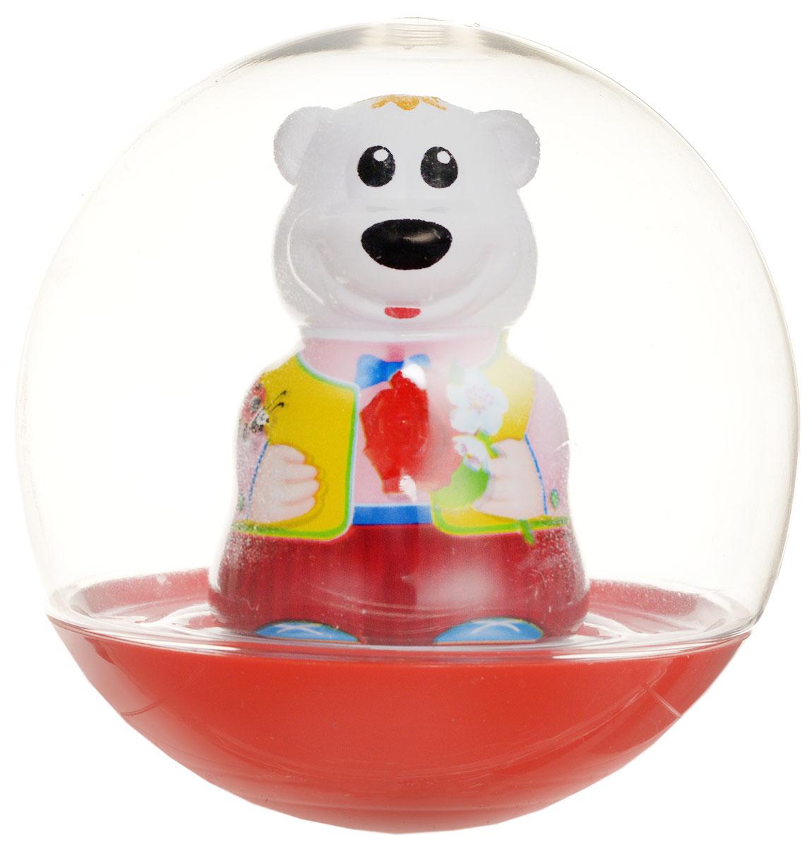 Stellar Погремушка-неваляшка Мишка с розой цвет красный желтый1578_красный, желтыйПогремушка-неваляшка Stellar Мишка с розой не позволит скучать вашему малышу на улице, дома и во время водных процедур. Игрушка выполнена из безопасного материала в виде симпатичного медвежонка с розой в прозрачном шаре. Неваляшка забавно покачивается под приятный звук погремушки, развлекая малыша. Игры с погремушкой-неваляшкой способствуют развитию мелкой моторики, координации, слуха и цветового восприятия.