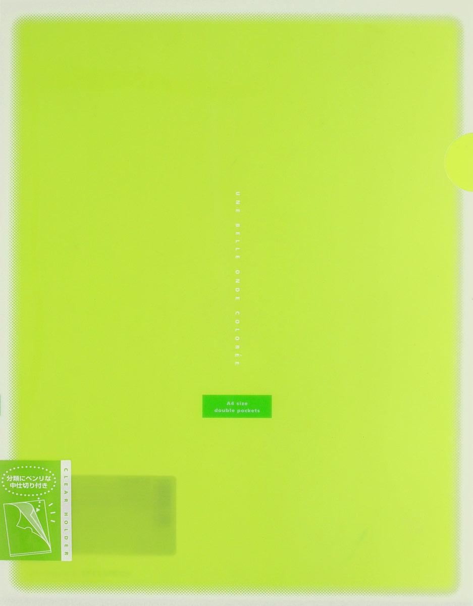 Kokuyo Папка-уголок Coloree цвет светло-зеленый828465Папка-уголок Kokuyo Coloree подойдет для хранения документов и тетрадей как для офисного работника, так и для студента или школьника. По форме это обычная папка-уголок формата А4, но она имеет вставки на 2 кармана и вмещает в себя гораздо больше различных документов, чем папка с одним карманом. Папка изготовлена из качественного пластика, поэтому она всегда будет сохранять все ваши документы в чистом и опрятном виде.