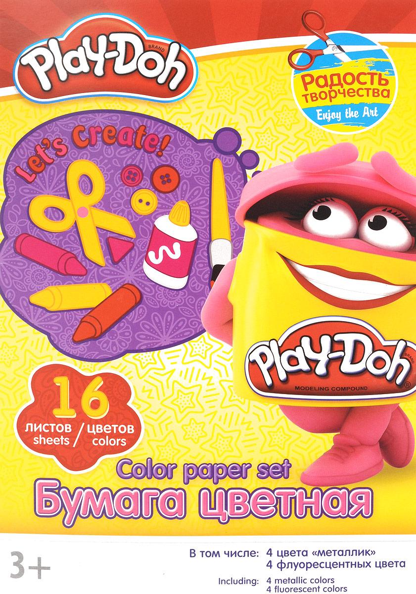 Play-Doh Набор цветной бумаги 16 листов 16 цветовPD1/2_розовыйНабор цветной бумаги Play-Doh формата А4 идеально подходит для детского творчества: создания аппликаций, оригами и многого другого. В упаковке 16 листов бумаги 16 цветов: золотистый, серебристый, желтый, красный, пурпурный, зелёный, голубой, фиолетовый, коричневый, черный, розовый металл, голубой металл, лимонный флюор, салатовый флюор, оранжевый флюор, розовый флюор. На обороте набора расположена игра на внимание Найди 2 одинаковых Додошки. Детские аппликации из цветной бумаги - отличное занятие для развития творческих способностей и познавательной деятельности малыша, а также хороший способ самовыражения ребенка. Рекомендуемый возраст: от 3 лет.
