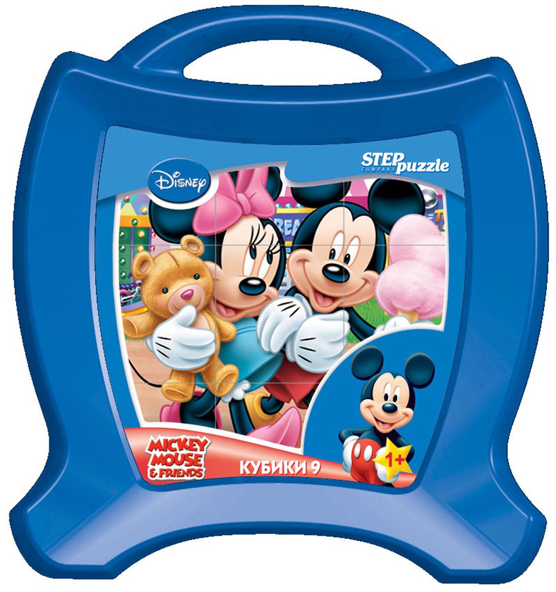 Step Puzzle Кубики Микки Маус в чемоданчике 9 шт87113С помощью кубиков Step Puzzle Микки Маус ребенок сможет собрать целых шесть красочных картинок с любимыми героями мультсериала о Микки Маусе и его друзьях. Игра с кубиками развивает зрительное восприятие, наблюдательность, мелкую моторику рук и произвольные движения. Ребенок научится складывать целостный образ из частей, определять недостающие детали изображения. Это прекрасный комплект для развлечения и времяпрепровождения с пользой для малыша.