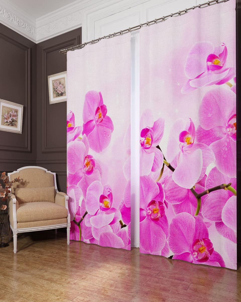 Комплект фотоштор Сирень Сиреневая орхидея, на ленте, высота 260 см. 02404-ФШ-БЛ-00102404-ФШ-БЛ-001Фотошторы Сирень Сиреневая орхидея, выполненные из блэкаута, отлично дополнят украшение любого интерьера. Блэкаут - это трехслойная светонепроницаемая ткань - 100% полиэстер, по структуре напоминает плотный хлопок, очень мягкий,с небольшим сероватым оттенком из-за черной нити, входящей в состав ткани. Блэкаут не требует особого ухода, хорошо драпируется. Пропускает солнечные лучи не более 5%. Крепление на карниз при помощи шторной ленты на крючки. В комплекте 2 шторы. Ширина одного полотна: 145 см. Высота штор: 260 см. Рекомендации по уходу: стирка при 30 градусах, гладить при температуре до 110 градусов. Изображение на мониторе может немного отличаться от реального.
