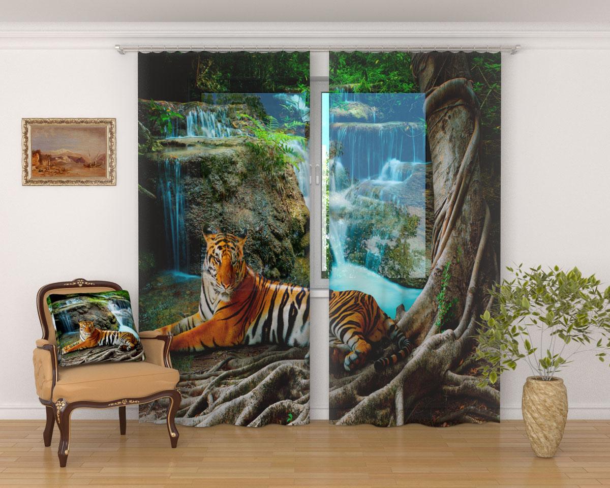 Комплект фототюлей Сирень Индийский тигр, на ленте, 290 х 260 см02648-ФТ-ВЛ-001Фототюль Сирень, используемый материал Вуаль - легкая, парящая ткань. Благодаря своей прозрачности позволяет создать в комнате уютную атмосферу, отлично дополнят украшение любого окна. Ткань хорошо держит форму, не требует специального ухода. Яркая и чёткая картинка будет радовать Вас каждый день. Крепление на карниз при помощи шторной ленты на крючки. В комплекте: Занавески: 2 шт. Размер (ШхВ): 145 см х 260 см. Рекомендации по уходу: стирка при 30 градусах гладить при температуре до 110 градусов Изображение на мониторе может немного отличаться от реального.