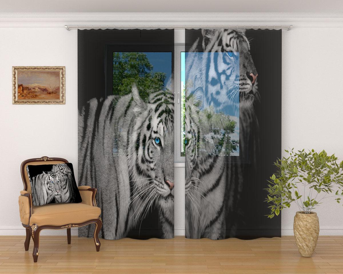 Комплект фототюлей Сирень Два тигра, на ленте, 290 х 260 см03221-ФТ-ВЛ-001Фототюль Сирень, используемый материал Вуаль - легкая, парящая ткань. Благодаря своей прозрачности позволяет создать в комнате уютную атмосферу, отлично дополнят украшение любого окна. Ткань хорошо держит форму, не требует специального ухода. Яркая и чёткая картинка будет радовать Вас каждый день. Крепление на карниз при помощи шторной ленты на крючки. В комплекте: Занавески: 2 шт. Размер (ШхВ): 145 см х 260 см. Рекомендации по уходу: стирка при 30 градусах гладить при температуре до 110 градусов Изображение на мониторе может немного отличаться от реального.