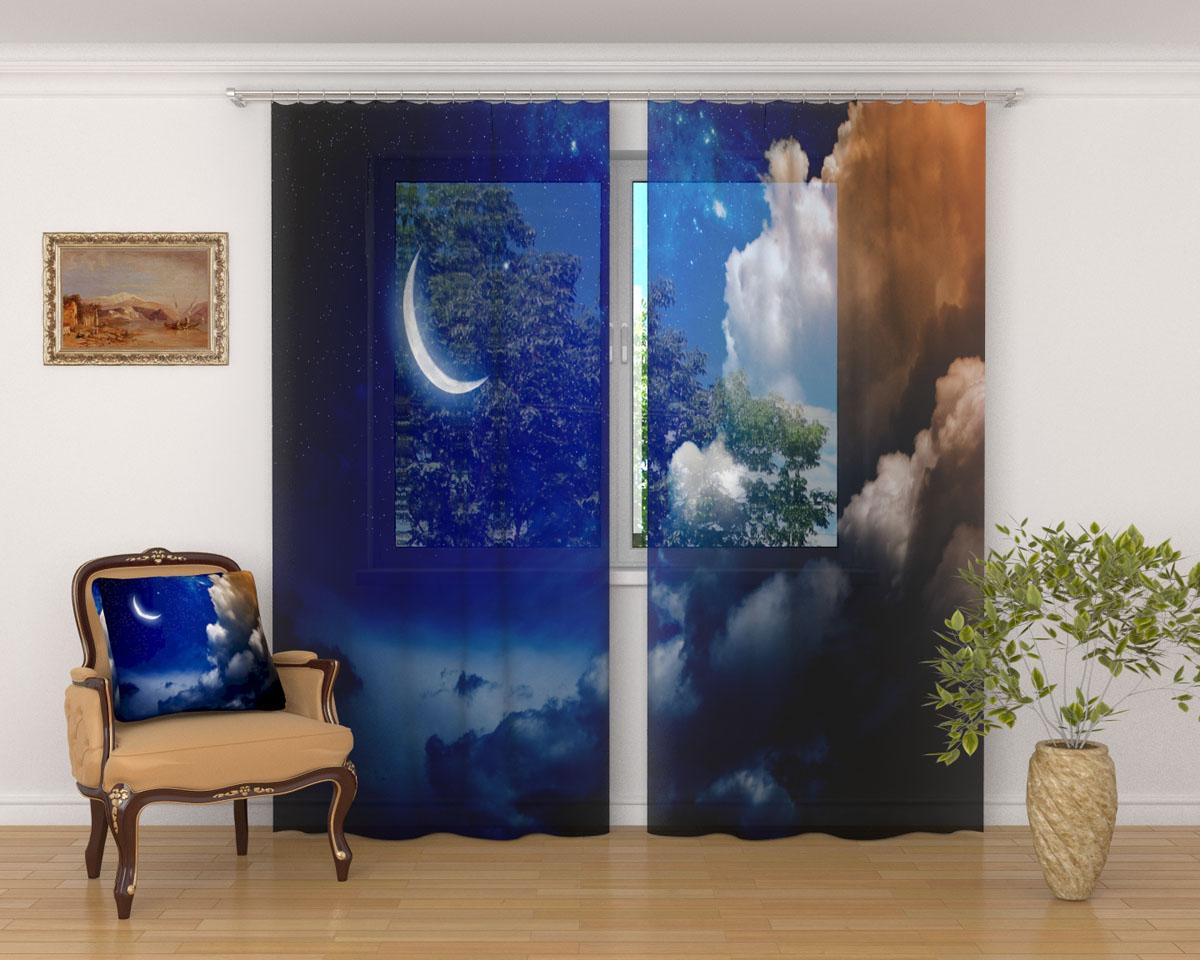 Комплект фототюлей Сирень Луна и облака, на ленте, высота 260 см03305-ФТ-ВЛ-001Фототюль Сирень Луна и облака из легкой парящей ткани - вуали - благодаря своей прозрачности позволяет создать в комнате уютную атмосферу, отлично дополняет украшение любого окна. Ткань хорошо держит форму, не требует специального ухода. Яркая и чёткая картинка будет радовать вас каждый день. Крепление на карниз при помощи шторной ленты на крючки. В комплекте: 2 тюля. Ширина полотна: 145 см. Высота полотна: 260 см. Рекомендации по уходу: стирка при 30 градусах, гладить при температуре до 110 градусов. Изображение на мониторе может немного отличаться от реального.
