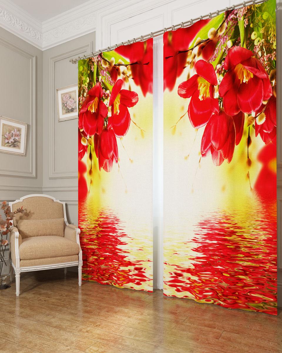 Комплект фотоштор Сирень Букет с красными цветами, на ленте, высота 260 см03560-ФШ-БЛ-001Фотошторы Сирень Букет с красными цветами, выполненные из блэкаута, отлично дополнят украшение любого интерьера. Блэкаут - это трехслойная светонепроницаемая ткань - 100% полиэстер, по структуре напоминает плотный хлопок, очень мягкий,с небольшим сероватым оттенком из-за черной нити, входящей в состав ткани. Блэкаут не требует особого ухода, хорошо драпируется. Пропускает солнечные лучи не более 5%. Крепление на карниз при помощи шторной ленты на крючки. В комплекте 2 шторы. Ширина одного полотна: 145 см. Высота штор: 260 см. Рекомендации по уходу: стирка при 30 градусах, гладить при температуре до 110 градусов. Изображение на мониторе может немного отличаться от реального.