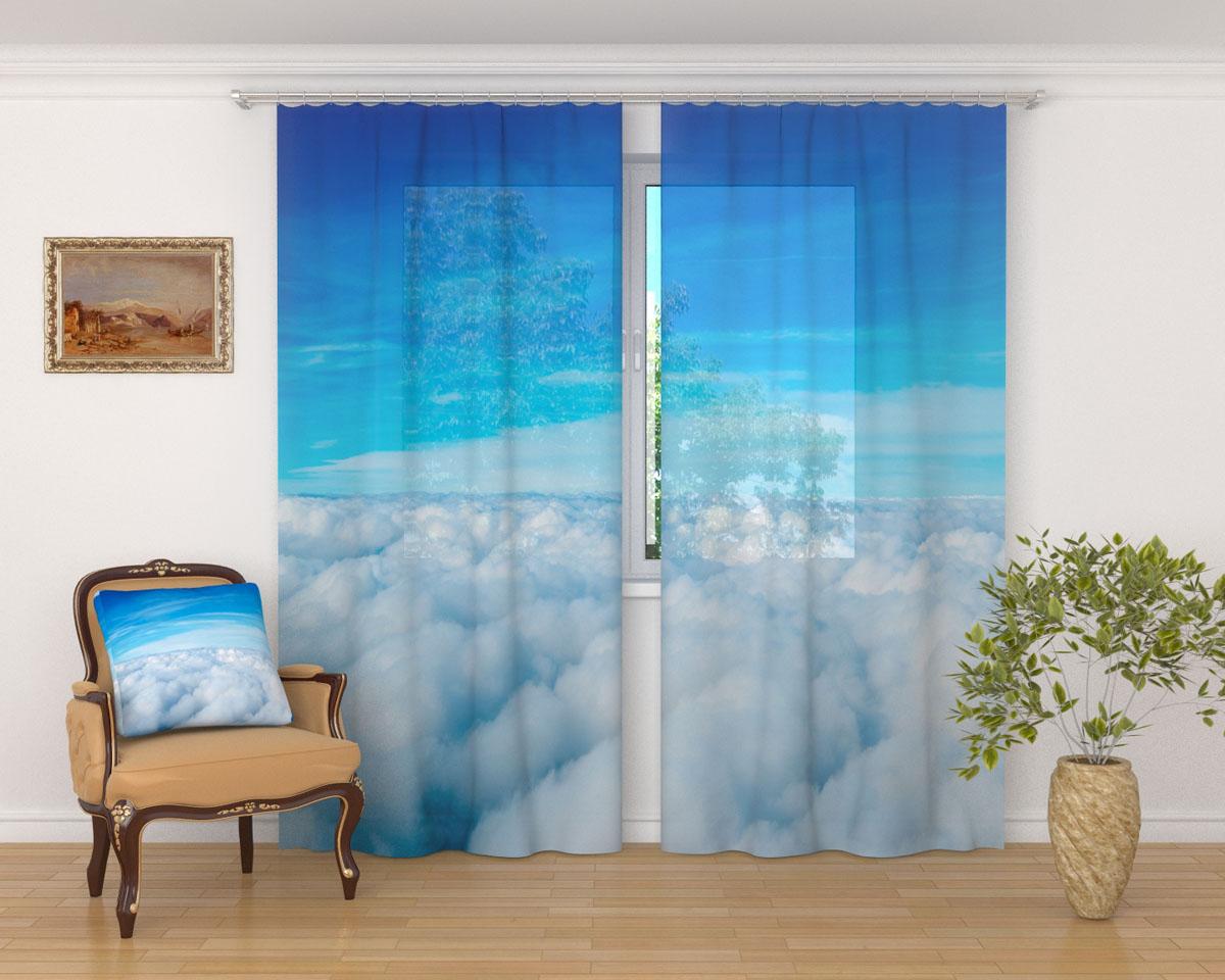 Комплект фототюлей Сирень Над облаками, на ленте, высота 260 см03561-ФТ-ВЛ-001Фототюль Сирень Над облаками из легкой парящей ткани - вуали - благодаря своей прозрачности позволяет создать в комнате уютную атмосферу, отлично дополняет украшение любого окна. Ткань хорошо держит форму, не требует специального ухода. Яркая и чёткая картинка будет радовать вас каждый день. Крепление на карниз при помощи шторной ленты на крючки. В комплекте: 2 тюля. Ширина полотна: 145 см. Высота полотна: 260 см. Рекомендации по уходу: стирка при 30 градусах, гладить при температуре до 110 градусов. Изображение на мониторе может немного отличаться от реального.