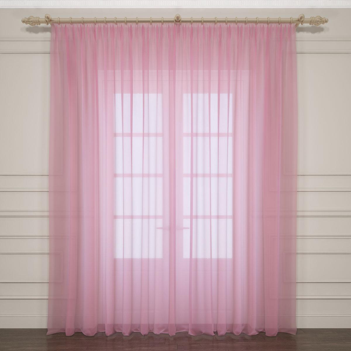 Комплект тюлей Сирень, на ленте, цвет: розовый, высота 260 см. 03761-ТЛ-ВЛ-00103761-ТЛ-ВЛ-001Тюли Сирень изготовлены из легкой парящей ткани - вуали. Благодаря прозрачности материала комплект создаст в комнате атмосферу спокойствия и гармонии и отлично украсит любое окно. Ткань хорошо держит форму и не требует специального ухода. Крепление на карниз при помощи шторной ленты на крючки. Рекомендации по уходу: стирка при 30°, гладить при температуре до 110°.