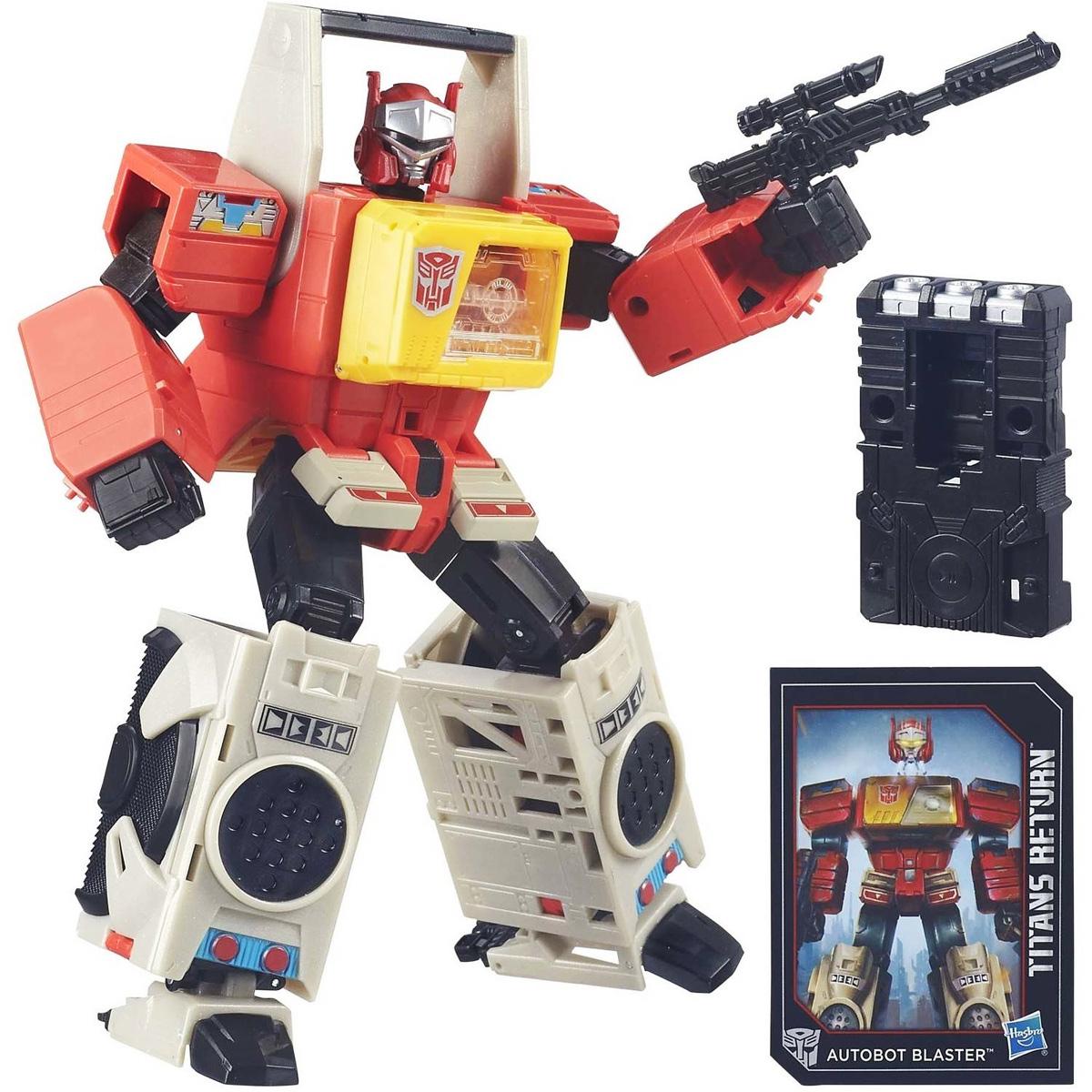Transformers Трансформер Twin Cast & Autobot BlasterB7997EU4_B5613Трансформер Transformers Twin Cast & Autobot Blaster обязательно понравится всем маленьким поклонникам знаменитых Трансформеров! Фигурка выполнена из прочного пластика. В несколько простых шагов (19 шагов) малыш сможет трансформировать фигурку робота в стильный бумбокс, а далее в режим города и обратно. Фигурка отличается высокой степенью детализации. Ребенок с удовольствием будет играть с трансформером, придумывая различные истории. Порадуйте его таким замечательным подарком! В комплект также входят оружие трансформера и карта персонажа с техническими характеристиками.