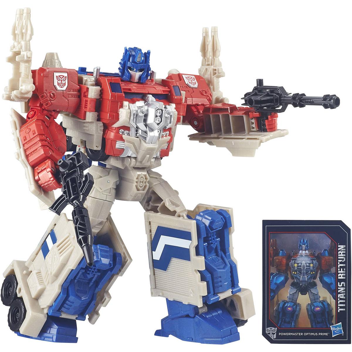 Transformers Трансформер Autobot Apex & Powermaster Optimus PrimeB7997EU4_B6461Трансформер Transformers Autobot Apex & Powermaster Optimus Prime обязательно понравится всем маленьким поклонникам знаменитых Трансформеров! Фигурка выполнена из прочного пластика в виде трансформера Autobot Apex. В несколько простых шагов (21 шаг) малыш сможет трансформировать фигурку робота в мощный грузовик, а далее в режим города и обратно. Фигурка отличается высокой степенью детализации. Ребенок с удовольствием будет играть с трансформером, придумывая различные истории. Порадуйте его таким замечательным подарком! В комплект также входят оружие трансформера и карта персонажа с техническими характеристиками.