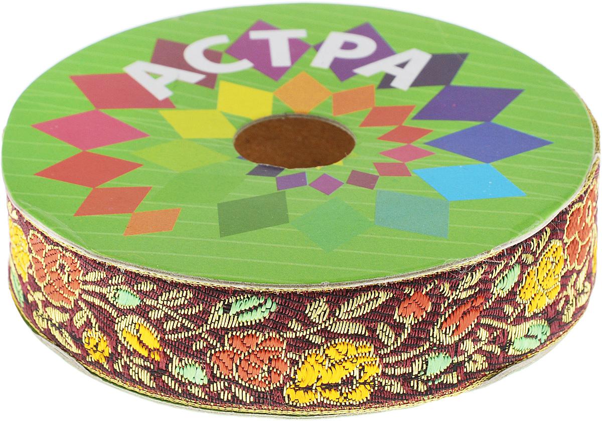 Тесьма декоративная Астра, цвет: бордовый, красный (С10), ширина 2,5 см, длина 9 м. 77034337703433_С10Декоративная тесьма Астра выполнена из текстиля и оформлена оригинальным орнаментом. Такая тесьма идеально подойдет для оформления различных творческих работ таких, как скрапбукинг, аппликация, декор коробок и открыток и многое другое. Тесьма наивысшего качества и практична в использовании. Она станет незаменимым элементом в создании рукотворного шедевра. Ширина: 2,5 см. Длина: 9 м.
