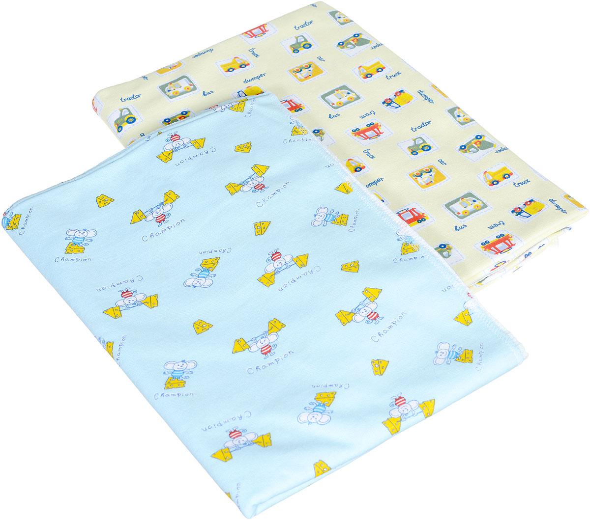 Фреш Стайл Комплект пеленок цвет голубой желтый 90 х 130 см 2 шт21-90_голубой, жёлтыйХлопковые пеленки Фреш Стайл подходят для пеленания ребенка с самого рождения. Мягкая ткань укутывает малыша с необычайной нежностью. Такая ткань прекрасно дышит, она гипоаллергенна, обладает повышенными теплоизоляционными свойствами и не теряет формы после стирки. Пеленку также можно использовать как легкое одеяло, простынку, полотенце после купания, накидку для кормления грудью. В комплект входят две пеленки. Предварительная стирка обязательна. Стрика при 40 °C, гладить при температуре не выше 150 °C, можно отжимать и сушить в стиральной машине, не отбеливать, не подвергать химчистке.