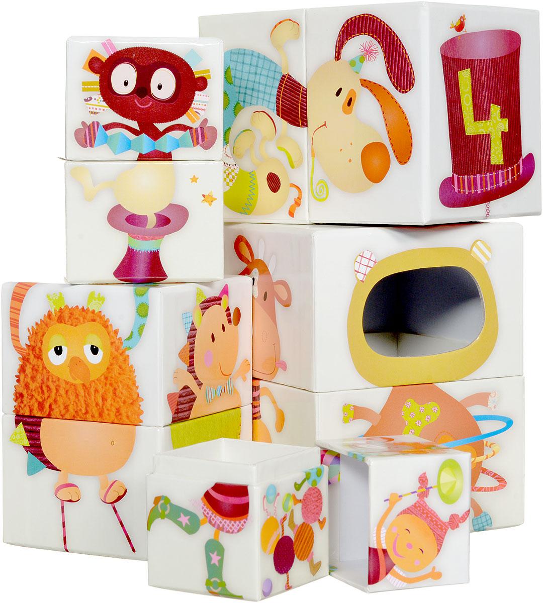 Lilliputiens Кубики Цирк86419Верхняя и нижняя части ваших друзей Lilliputiens распределены по большому количеству коробочек! Помогите им собрать все туловище, соединяя одну коробочку с другой. Если у вас игривое настроение, комбинируйте части персонажей и создавайте новых, еще более забавных! Игра с кубиками развивает зрительное восприятие, наблюдательность и внимание, мелкую моторику рук и произвольные движения.
