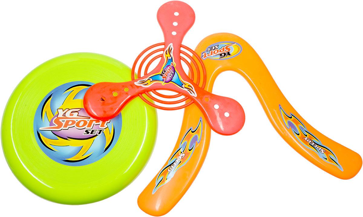 YG Sport Бумеранг 4 в 1 цвет салатовый красный оранжевый голубойYG15JЯркие бумеранги YG Sport легко запускаются и быстро возвращаются в руки своему обладателю. В комплект входят четыре различных по форме и размеру метательных предмета, имеющих превосходные аэродинамические характеристики. Игра с бумерангами превосходно подходит как для компании, так и для одиночной игры, как в помещении, так и на свежем воздухе. Спортивное развлечение развивает координацию и моторику движения, меткость, ловкость и внимательность. Выполнены игрушки из качественного и прочного материала, абсолютно безопасного для детской игры. Уважаемые клиенты! Обращаем ваше внимание на ассортимент в дизайне товара. Поставка возможна в зависимости от наличия на складе.