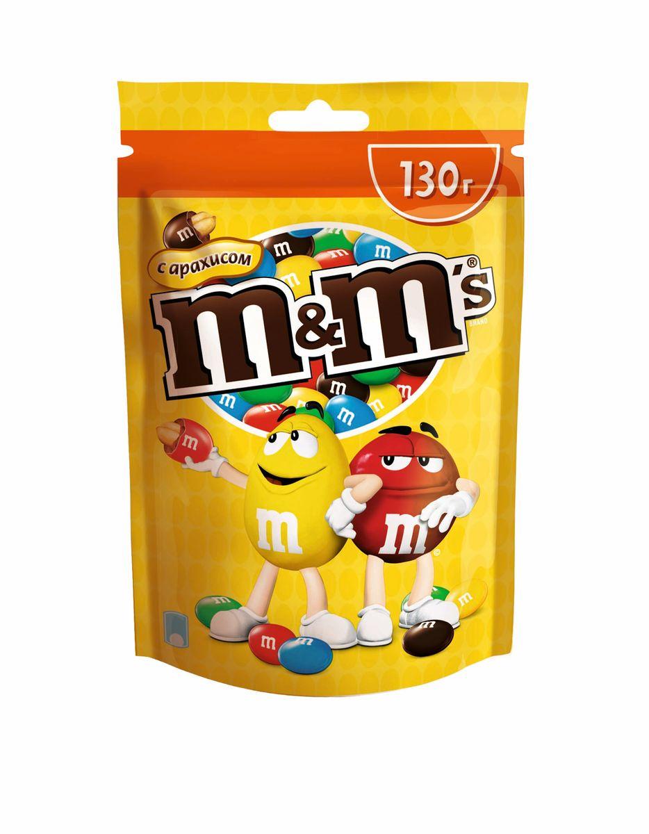 M&Ms Драже с арахисом, 130 г
