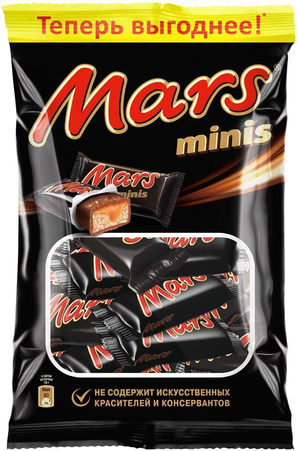 Mars Minis шоколадные батончики, 182 г79009021МАРС Минис - это уникальное сочетание нуги, карамели и лучшего молочного шоколада. Знакомый всем с детства МАРС в формате Минис удобно разделить с друзьями, коллегами, близкими и родными. Сложно найти для чаепития что-то более подходящее, чем МАРС Минис.