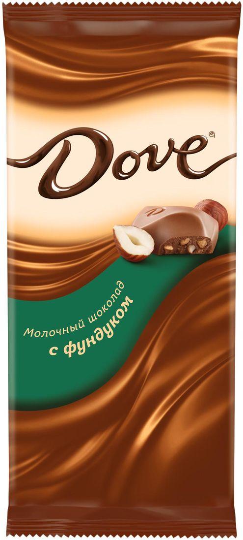 Dove молочный шоколад с фундуком, 90 г