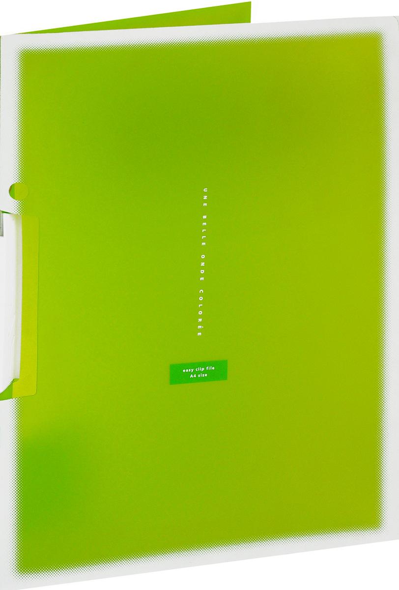 Kokuyo Папка с клипом Coloree цвет светло-зеленый828640Папка с поворотным зажимом Kokuyo Coloree предназначена для хранения документов и тетрадей. Она подойдет как для офисного работника, так и для студента или школьника. По форме это обычная папка формата А4, но она имеет прочный пластиковый зажим, который надежно зафиксирует ваши бумаги. Папка изготовлена из качественного пластика и всегда будет сохранять ваши документы в чистом и опрятном виде.