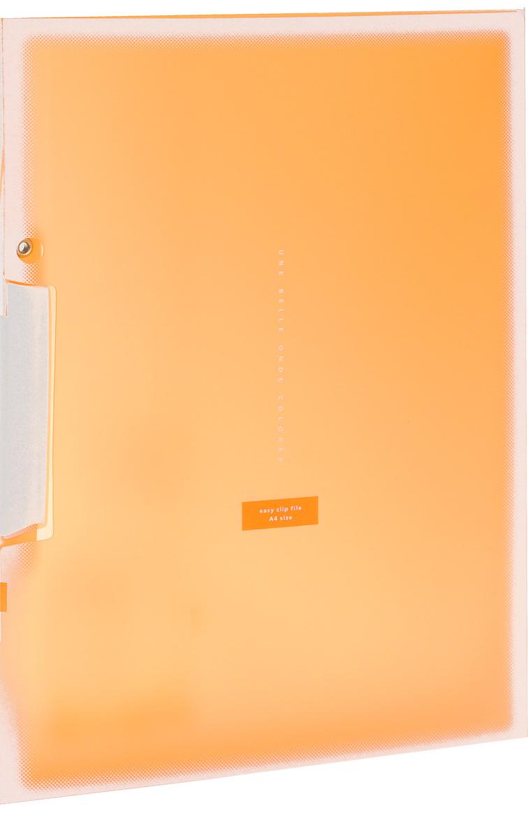 Kokuyo Папка с клипом Coloree цвет оранжевый828639Папка с поворотным зажимом Kokuyo Coloree предназначена для хранения документов и тетрадей. Она подойдет как для офисного работника, так и для студента или школьника. По форме это обычная папка формата А4, но она имеет прочный пластиковый зажим, который надежно зафиксирует ваши бумаги. Папка изготовлена из качественного пластика и всегда будет сохранять ваши документы в чистом и опрятном виде.