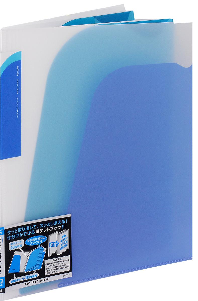Kokuyo Папка-уголок Novita цвет синий