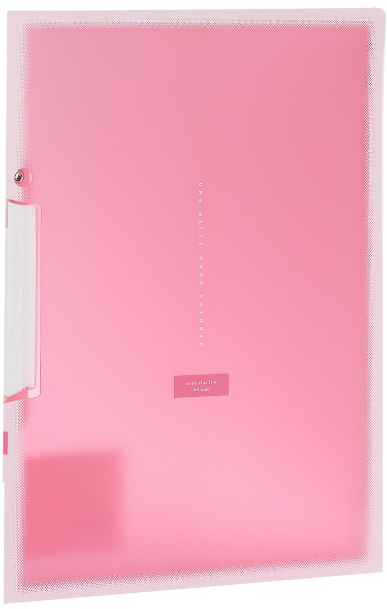 Kokuyo Папка с клипом Coloree цвет розовый828638Папка с поворотным зажимом Kokuyo Coloree предназначена для хранения документов и тетрадей. Она подойдет как для офисного работника, так и для студента или школьника. По форме это обычная папка формата А4, но она имеет прочный пластиковый зажим, который надежно зафиксирует ваши документы. Папка изготовлена из качественного пластика и всегда будет сохранять ваши документы в чистом и опрятном виде.