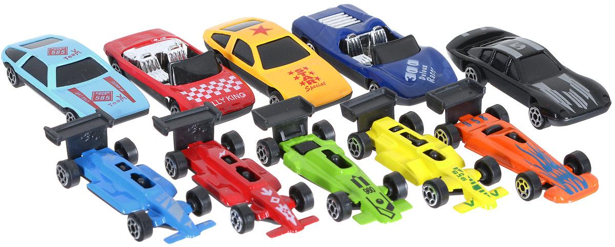 Shantou Набор машинок City Racer 10 штG100-H36028Набор машинок Shantou City Racer понравится любому мальчику. В набор входят 10 спортивных и гоночных автомобилей. Каждая машинка имеет индивидуальную форму и раскраску. Машинки изготовлены из качественных и безопасных материалов. Имея такой автопарк, можно устраивать соревнования и гонки с друзьями. Благодаря разнообразию моделей и цветов скучать будет некогда.