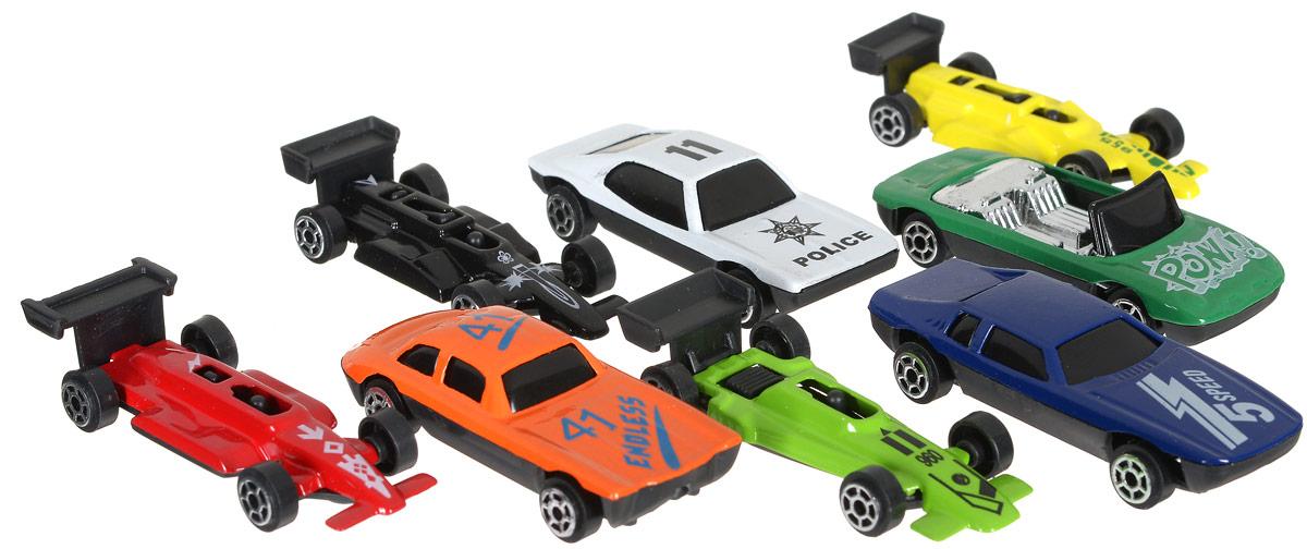 Shantou Набор машинок City Racer 8 шт G100-H36052G100-H36052Набор машинок Shantou City Racer понравится любому мальчику. В набор входят восемь спортивных и гоночных автомобилей. Каждая машинка имеет индивидуальную форму и раскраску. Машинки изготовлены из качественных и безопасных материалов. Имея такой автопарк, можно устраивать соревнования и гонки с друзьями. Благодаря разнообразию моделей и цветов скучать будет некогда.