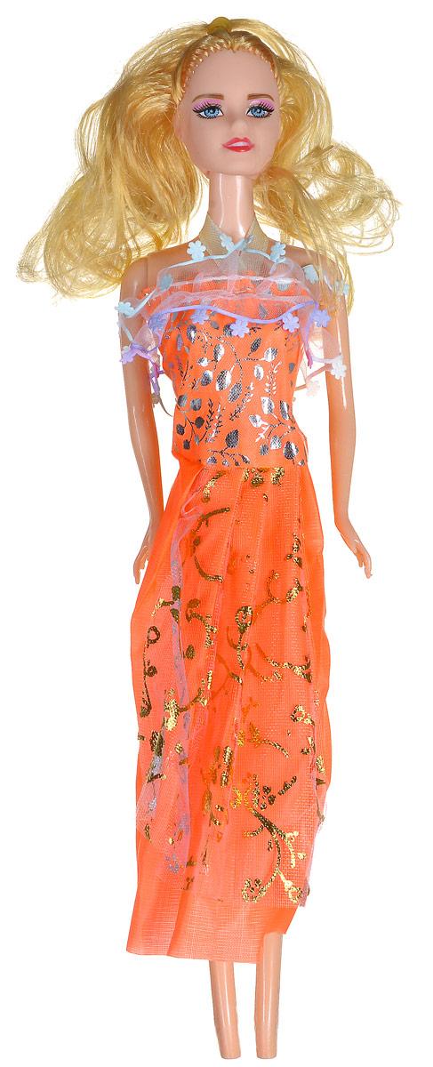 Shantou Кукла Angelic Girl цвет платья оранжевыйB953-H43002_оранжевыйКукла Shantou Angelic Girl непременно обрадует вашу малышку. Куколка со светлыми волосами одета в оранжевое платье, украшенное блестками. Головка и ручки куклы подвижны. Игры с куклой способствуют эмоциональному развитию ребенка, а также помогают формировать воображение и художественный вкус.