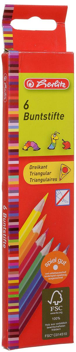 Herlitz Набор цветных карандашей Buntstifte 6 шт10412013Набор цветных карандашей Herlitz Buntstifte поможет создать чудные картины вашему юному художнику. Мягкий грифель легко рисует на бумаге и не царапает ее, устойчив к механическим деформациям и легко затачивается. Трехгранный корпус изготовлен из натуральной древесины и покрыт лаком на водной основе. В набор входят 6 ярких цветных карандашей. С таким набором карандашей от Herlitz будет интересно рисовать не только вашему малышу, но и вам.