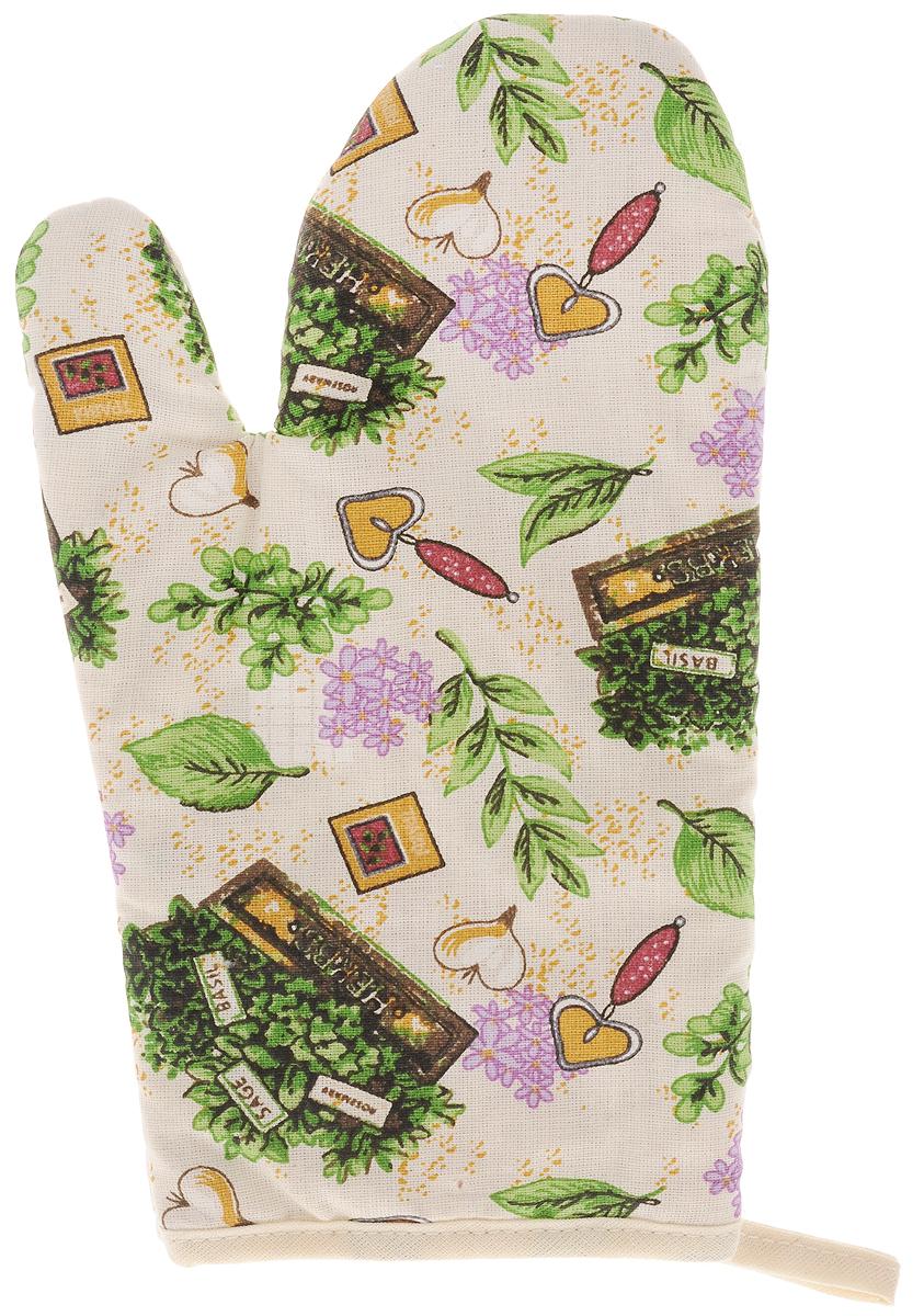 Рукавица Bonita Цветущие травы, 16 х 28 см16010816707Прихватка для горячего Bonita, выполненная из натурального хлопка в виде красочной рукавицы, станет украшением любой кухни. С помощью специальной петельки рукавицу можно вешать на крючок. Отличный вариант для практичной и современной хозяйки.