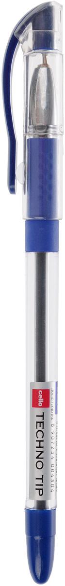 Cello Шариковая ручка Techno tip синяя305 228020Шариковая ручка Cello Techno tip - это функциональная и удобная письменная принадлежность, разработанная в Германии, прекрасно подойдет и взрослым, и детям. Ручка имеет прозрачный цилиндрический корпус, который позволяет видеть запас чернил. Она обладает специальной подушечкой для пальцев из антибактериального каучука, которая создает дополнительный комфорт. Стреловидный пишущий узел обеспечивает идеальную тонкую линию письма.