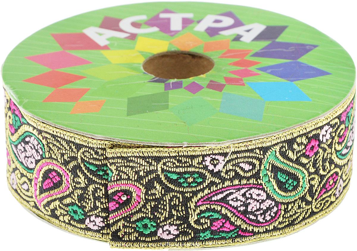 Тесьма декоративная Астра, цвет: черный (С7), ширина 3 см, длина 9 м. 77034267703426_С7Декоративная тесьма Астра выполнена из текстиля и оформлена оригинальным жаккардовым орнаментом. Такая тесьма идеально подойдет для оформления различных творческих работ таких, как скрапбукинг, аппликация, декор коробок и открыток и многое другое. Тесьма наивысшего качества и практична в использовании. Она станет незаменимым элементом в создании рукотворного шедевра. Ширина: 3 см. Длина: 9 м.