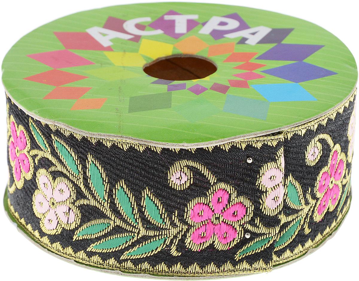 Тесьма декоративная Астра, цвет: черный (С7), ширина 4 см, длина 9 м. 77034387703438_С7Декоративная тесьма Астра выполнена из текстиля и оформлена оригинальным орнаментом. Такая тесьма идеально подойдет для оформления различных творческих работ таких, как скрапбукинг, аппликация, декор коробок и открыток и многое другое. Тесьма наивысшего качества и практична в использовании. Она станет незаменимым элементом в создании рукотворного шедевра. Ширина: 4 см. Длина: 9 м.