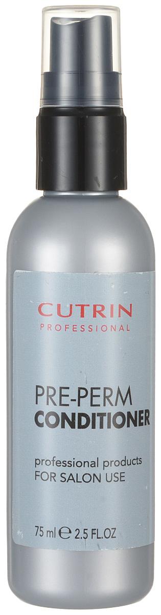 Cutrin Спрей-кондиционер для подготовки волос к химической завивке Pre-Perm Conditioner, 75 мл54105Эксклюзивное салонное средство подготавливает волосы к процедуре химической завивки, облегчает накрутку, обеспечивает более стойкий и равномерный результат. Выравнивает структуру пористых волос. Защищает волосы во время химического процесса за счет содержания комплекса ухаживающих ингредиентов на основе пшеничного протеина, бетаина и глицерина. Подходит для всех типов волос. Совместим со всеми видами перманентов Cutrin.
