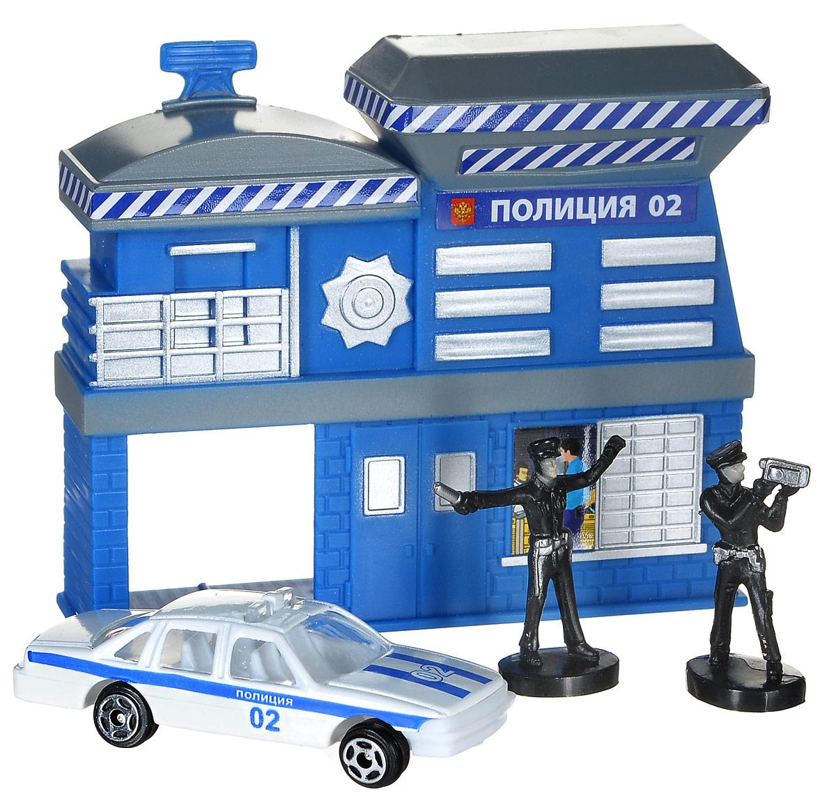 ТехноПарк Игровой набор Полицейский участок30413Игровой набор ТехноПарк Полицейский участок приятно порадует каждого мальчика. Набор добавит для вашего ребенка больше возможностей для игры с машинками. Полиция будет наказывать правонарушителей. В наборе имеется полицейский участок, машинка и две фигурки. Ваш ребенок с радостью будет играть с этим удивительным набором, придумывая различные захватывающие сюжеты. Порадуйте своего малыша такой интересной игрушкой!