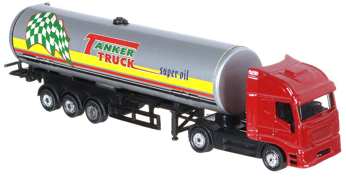 Shantou Нефтяная автоцистерна цвет красный серыйG100-H36228_красный, серыйНефтяная автоцистерна Shantou представляет собой игрушечный грузовик с танкером. У грузовика 5 пар колес со свободным ходом. Кабина выполнена в красном цвете. Малыш может использовать грузовик для разных сюжетных игр, например, вообразить перевозку стратегически важных веществ. Особенно он понравится ребенку благодаря своему детализированному дизайну и схожестью с настоящим грузовиком.