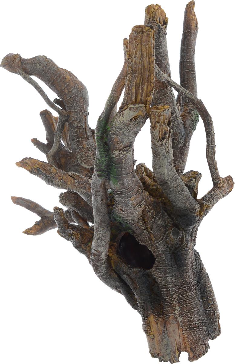 Декорация для аквариума Barbus Коряга, 40 х 25 х 36,5 смDecor 040Декорация для аквариума Barbus Коряга, выполненная из высококачественного нетоксичного полирезина, станет прекрасным украшением вашего аквариума. Изделие отличается реалистичным исполнением с множеством мелких деталей и отверстий. Ведь многие обитатели аквариума используют декорации как укрытия, в которых они живут и размножаются. Декорация абсолютно безопасна, нейтральна к водному балансу, устойчива к истиранию краски, подходит как для пресноводного, так и для морского аквариума. Благодаря декорациям Barbus вы сможете смоделировать потрясающий пейзаж на дне вашего аквариума или террариума.