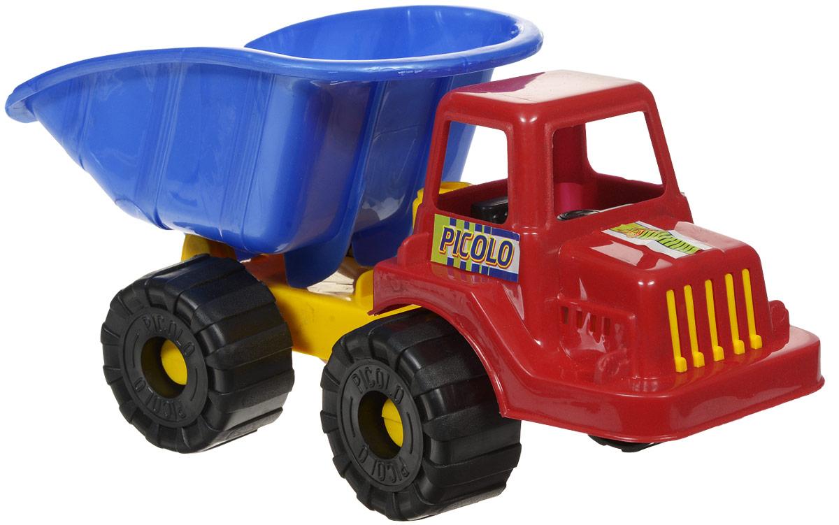 Rabbit Самосвал Пикколо цвет кабины красныйП-0065Самосвал Rabbit Пикколо станет прекрасным подарком для ребенка. Игрушка выполнена из прочного высококачественного пластика. Самосвал имеет просторный кузов, который можно наполнить песком или важным игрушечным грузом. Кузов игрушки откидывается, что предоставит малышу дополнительный простор для игры. Колеса машинки свободно вращаются. Все элементы машинки имеют увеличенные размеры, малышу будет удобно играть с ней. Игры с такой машинкой развивают концентрацию внимания, координацию движений, мелкую моторику рук, цветовое восприятие и воображение. Малыш будет с удовольствием играть с этим самосвалом, придумывая различные истории.