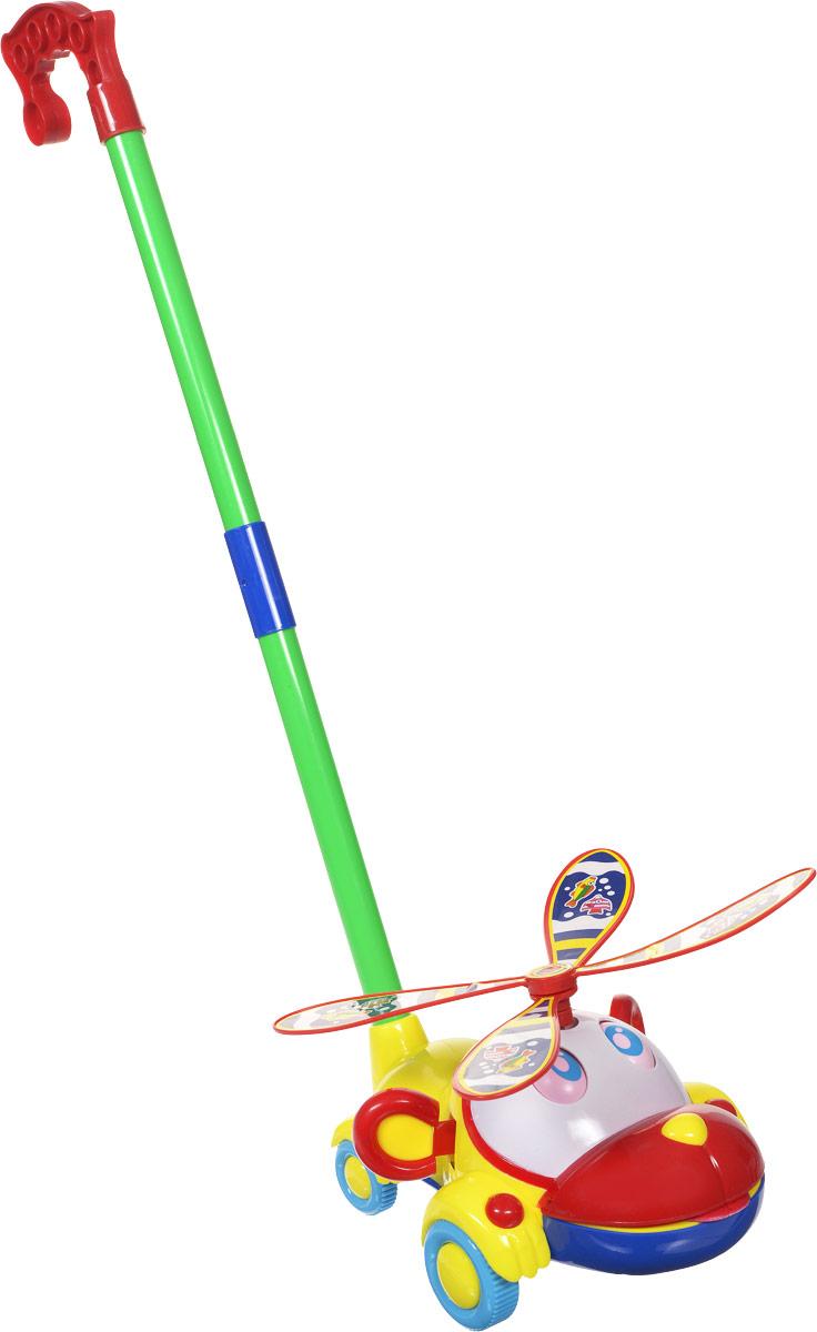 Ami&Co Игрушка-каталка Вертушка желтый красный зеленый44420_желтый, красный, зеленыйЗабавная игрушка-каталка Ami&Co Вертушка станет любимой игрушкой вашего малыша. Каталка выполнена в виде забавного зверька с пропеллером на голове. К каталке крепится ручка-держатель. При вращении колес пропеллер вращается, ушки и глазки зверька шевелятся, ротик открывается и высовывается язычок. Детская каталка предназначена для малышей, которые уже начали ходить самостоятельно. Яркие, забавные образы принесут радость и веселье во время игр. Игрушка поможет развить координацию движения, тактильные навыки и мелкую моторику рук ребенка, а издаваемые ею звуки активно стимулируют его слух. Порадуйте своего ребенка таким замечательным подарком!